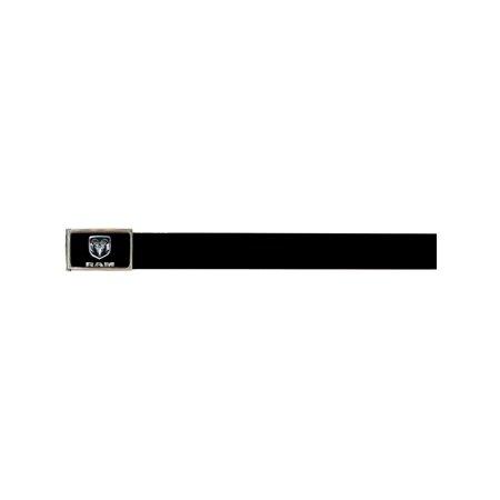 Dodge Automobile Company Metal Ram Logo Black Web Belt ()