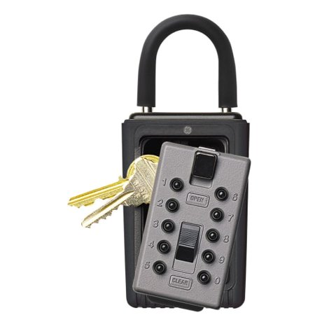 GE Security 001166 KeySafe Original 3 Key Portable with Pushbutton