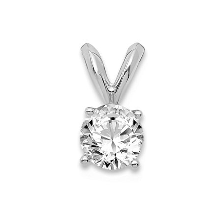 14k White Gold 1/3ct. Round Certified Lab Grown Diamond VS/SI, D-E Solitaire (Si Solitaire Pendant)