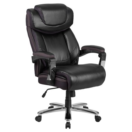 Flash Furniture HERCULES Series 500 lb. Capacity Big & Tall Black Leather Executive Swivel Office Chair with Height Adjustable (Reg Series Swivel Chair)