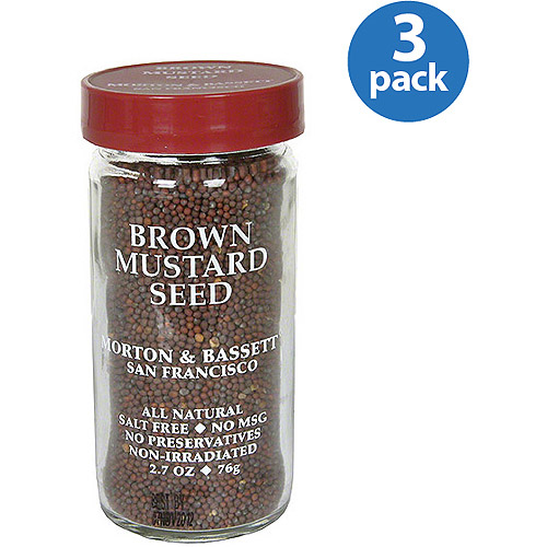 Morton & Bassett Spices Brown Mustard Seed, 2.7 oz, (Pack of 3)