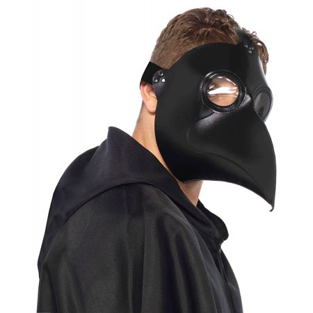 Faux Leather Plague Doctor Mask Costume Accessory