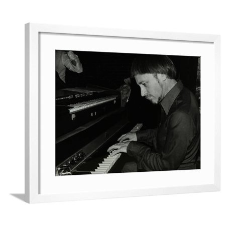 Michael Garrick Playing the Piano at the Bell, Codicote, Hertfordshire, 28 October 1980 Framed Print Wall Art By Denis Williams