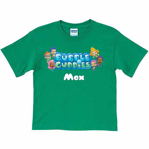 Personalized Bubble Guppies Logo Kids' Green T-Shirt