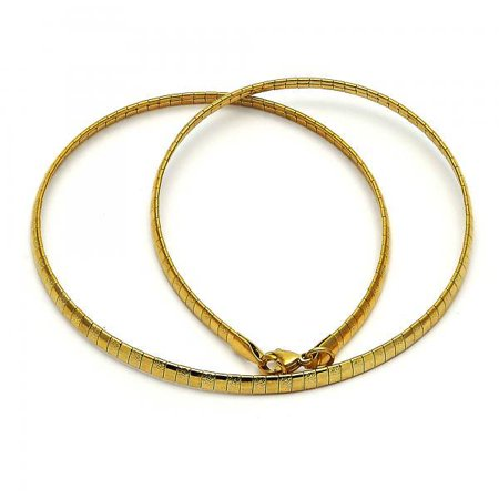 Perfect Fine Line Gold Plated Fancy Link Chain Necklace For Women By Folks -
