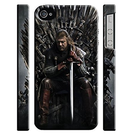 Ganma Game Of Thrones Iron Throne Ned Stark Case For Iphone 4 4s Hard Case Cover (Ned Stark Costume)