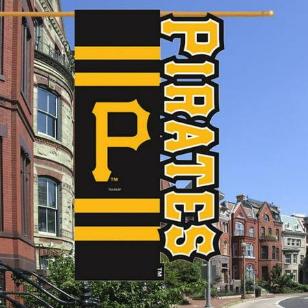 Pittsburgh Pirates Cut-Out Applique Garden Flag - Black/Gold - No Size