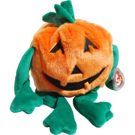 Pumkin the Jack O'Lantern Pumpkin - Ty Beanie Buddies by Beanie Buddies - (Halloween Jack O'lanterns Print)