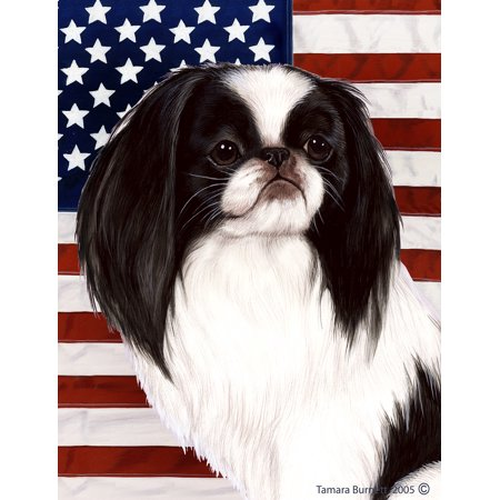 Japanese Chin Black and White - Best of Breed Patriotic II Garden
