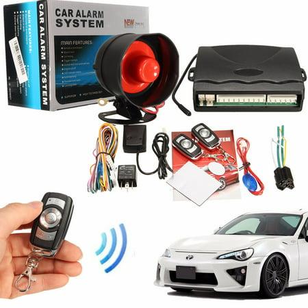 M.Way 1-Way Car Alarm Protection Security System Keyless Entry car lock Siren with 2 Door Remote Control / LED Indicator Status / Shock Sensor ()