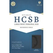 HCSB Large Print Personal Size Bible, Charcoal LeatherTouch