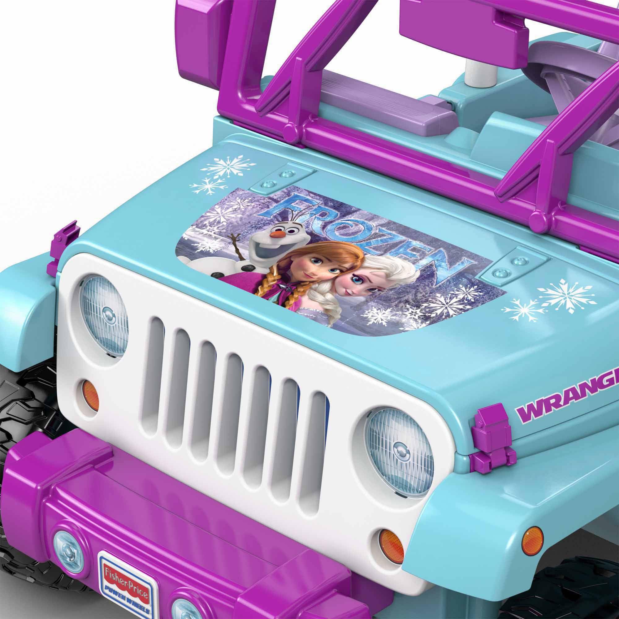 Power Wheels Disney Frozen Jeep Wrangler 12-Volt Battery-Powered ...