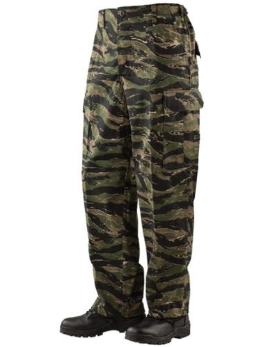 BDU Trousers Vietnam Tiger Stripe 60/40 Cotton, Poly Twill, Small Regular