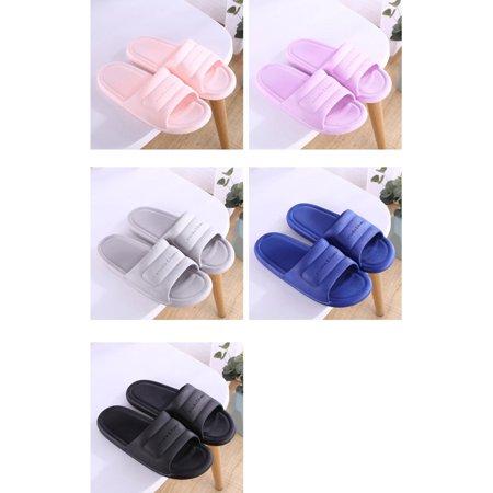 N297 Low Heels Slippers Summer Men Women Home Bathroom Non-slip Slippers - image 8 de 8