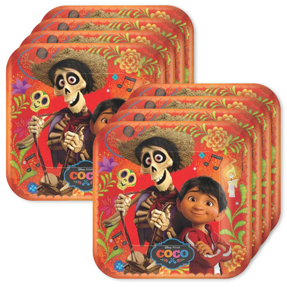 Coco Party Supplies Square Lunch Plates for 24