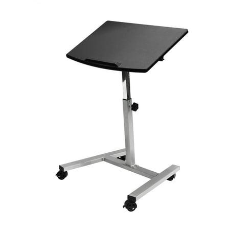 Tilting Mobile Laptop Desk Cart by Seville Classics