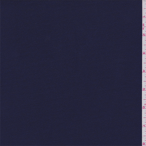 Dark Ink Blue Polyester Pebble Knit, Fabric By the Yard