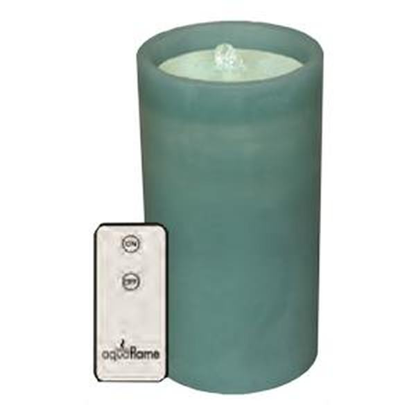 """Boston Warehouse 82650 7.8"""" Teal Outdoor Straight Edge AquaFlame (Battery Operated or Electric) LED Wax Candle... by"""