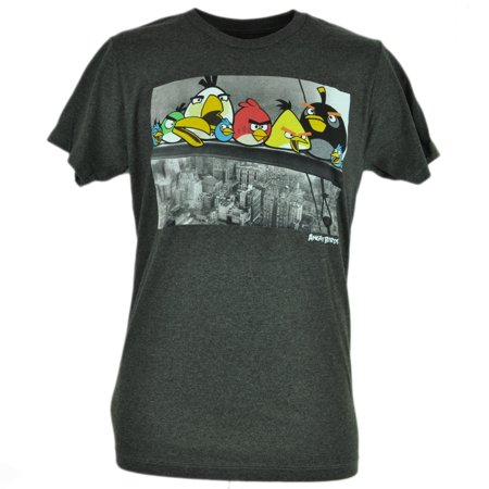 Angry Birds Steel Workers New York City Video Game Smart Phone App Tshirt 2XL](Games Online Angry Birds Halloween)
