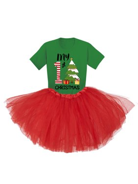 Awkward Styles Little Girls Christmas Tutu Clothing My First Christmas Tutu Outfits