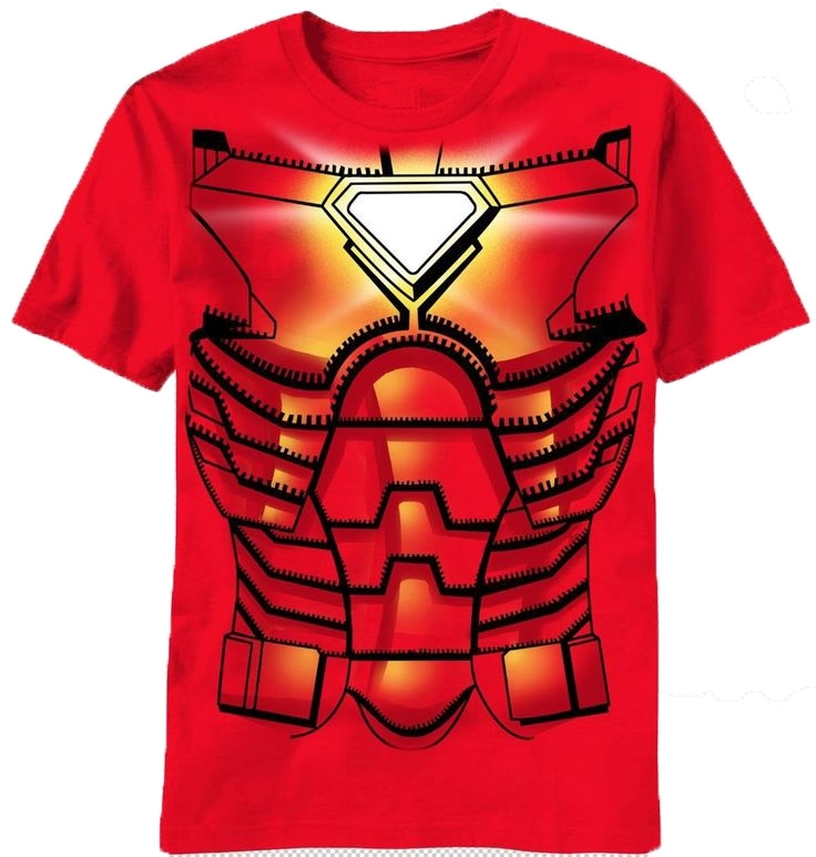 Marvel Avengers Iron Man Sublimated Costume Adult T-Shirt (Large)