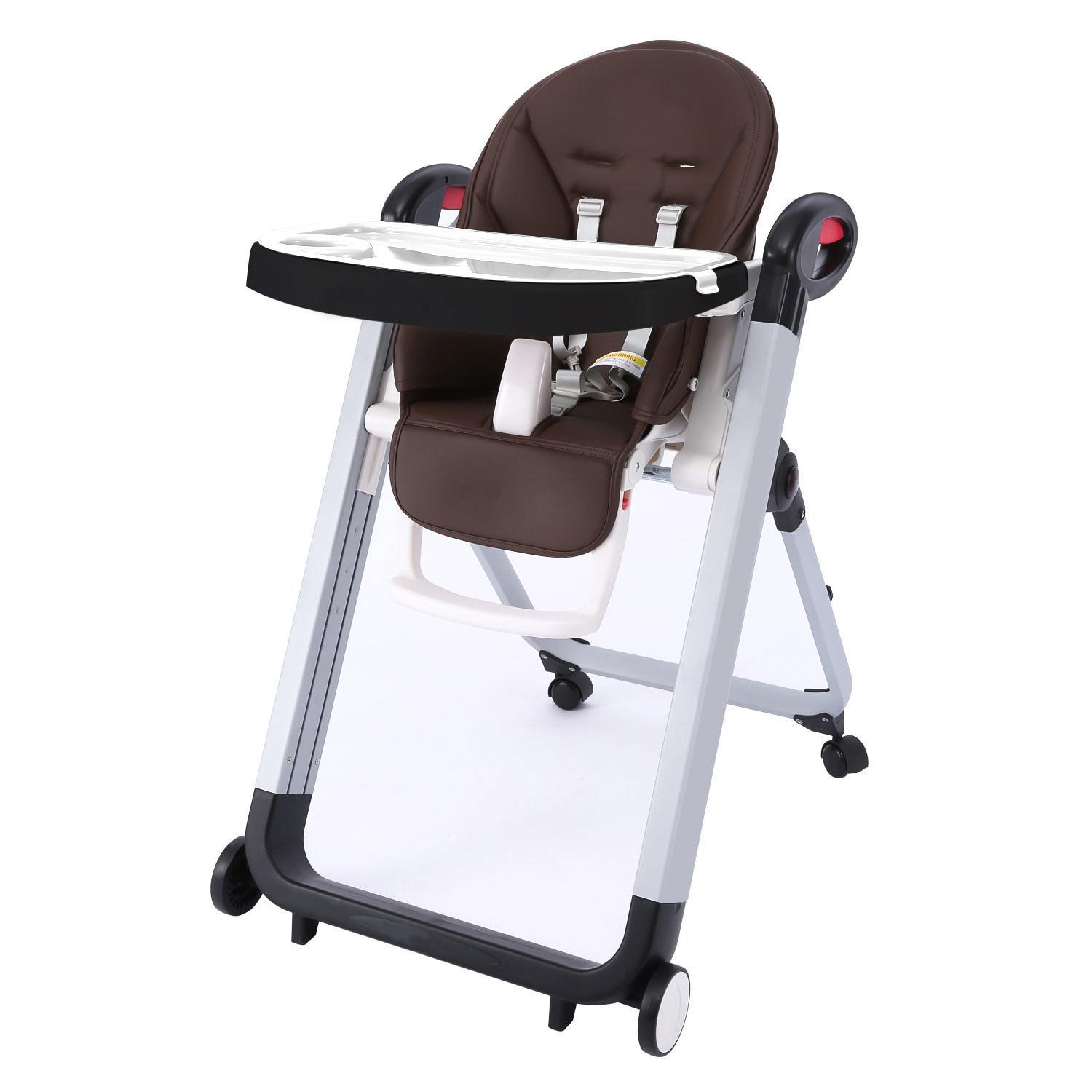 Dailydeal Multi-functional Baby High Feeding Chair.Full Recline Siesta Highchair, Portable Telescopic Child Dining Table Chair Supporting 45lbs DADEA