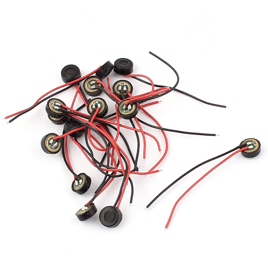 15 Pcs 4.5mm x 2mm Wire Cable MIC Capsule Electret Condenser Microphone by