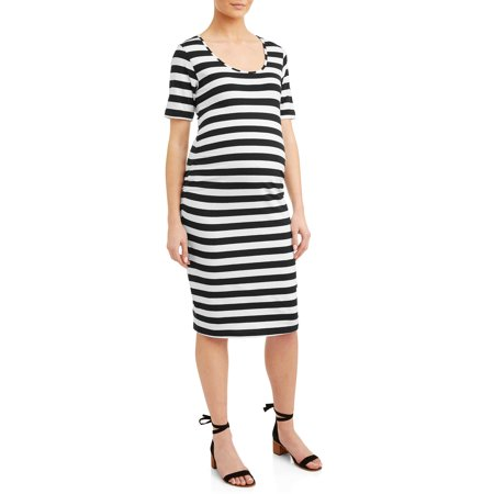 eae63f5fb0 Oh! Mamma - Maternity Stripe Short Sleeve Knit Dress - Available in ...
