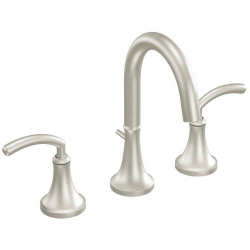 Moen Icon Brushed Nickel Two Handle Bathroom Faucet Walmart Com Walmart Com