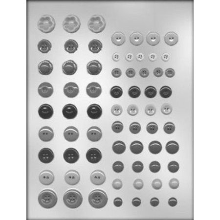 Button Mold (Button Assortment Chocolate Mold -  - Includes Melting and Molding)