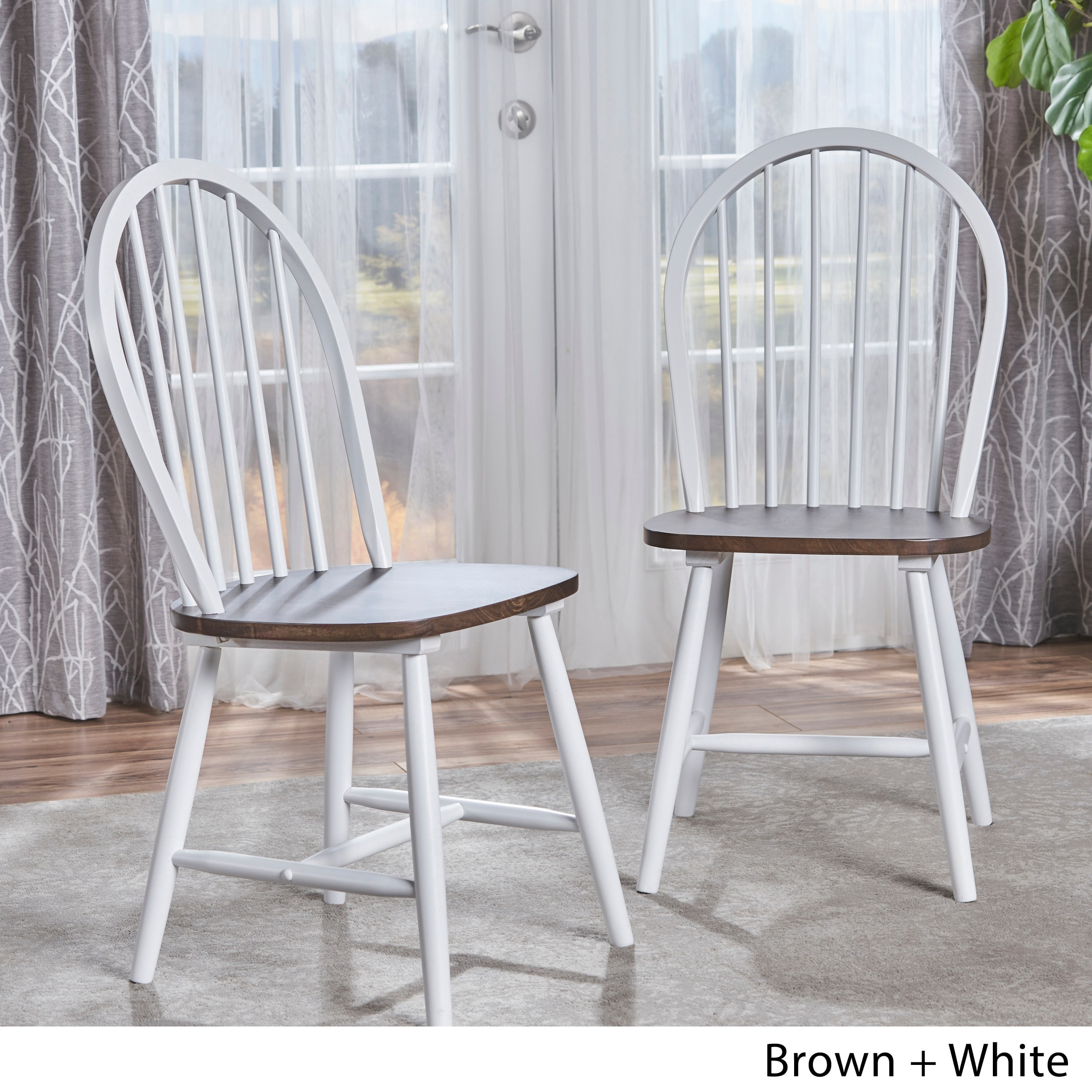 Christopher Knight Home Countryside High Back Spindle Wood Dining Chair (Set of 2) by