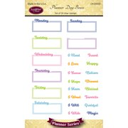 "Justrite Papercraft Clear Stamps 4""X6""-Planner Day Boxes"