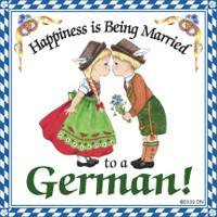 German Gift Idea Magnet (Happiness Married To German)](German Outfit Ideas)