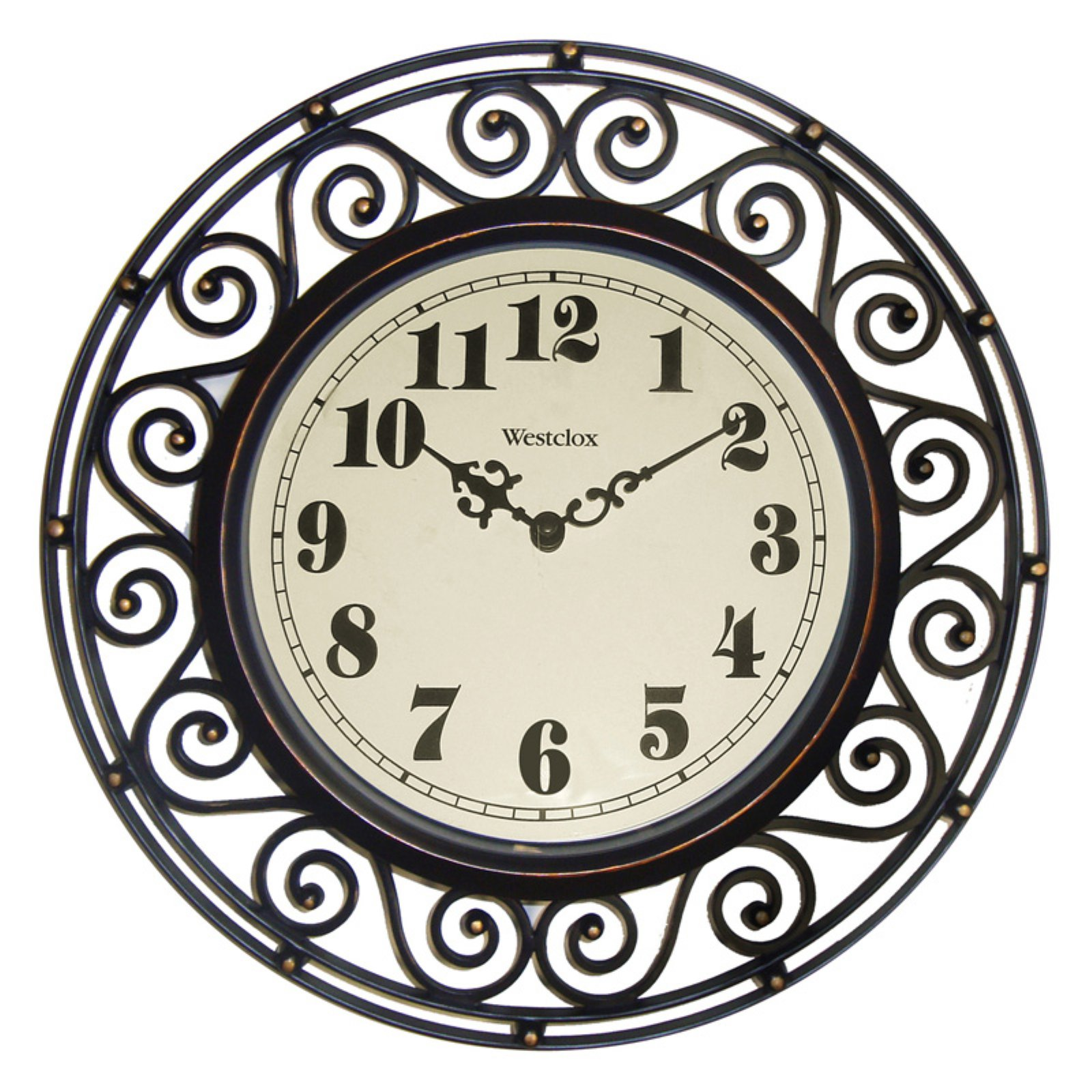 Westclox 32021 Wall Clock, Analog Display, Round, 12 in