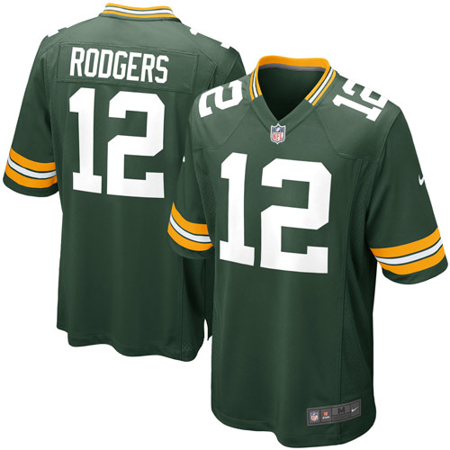 Aaron Rodgers Green Bay Packers Nike Youth Game Jersey - Green (Youth Aaron Rodgers)