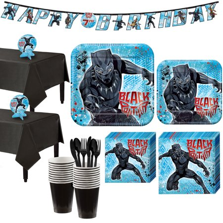 Black Panther Party Supplies for 16 Guests, Include a Banner and Centerpieces