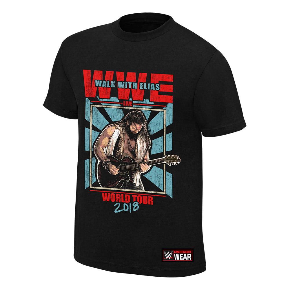 """WWE Elias /""""Walk With Elias/"""" Authentic T-Shirt *NEU* Official Shirt"""