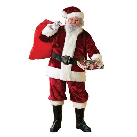 Rubie's Regency Plush Christmas Santa Claus Suit Adult Mens Costume, XXL