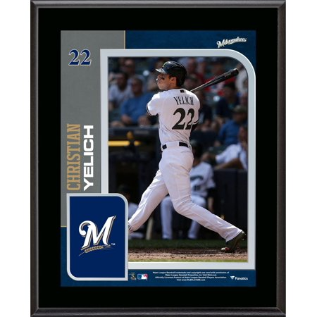 "Christian Yelich Milwaukee Brewers 10.5"" x 13"" Sublimated Player Plaque"