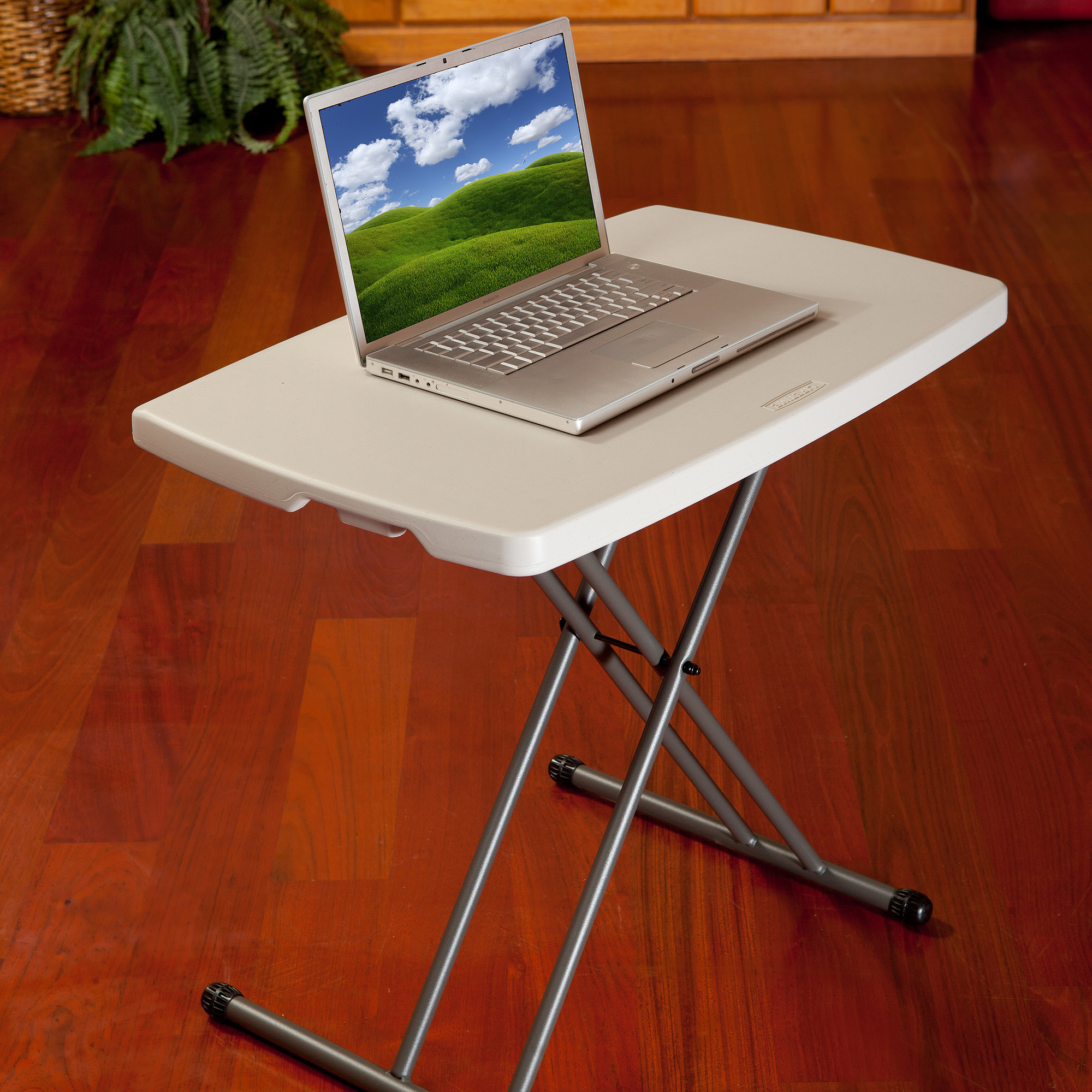 "Lifetime 30"" Personal Folding Table, White Granite"