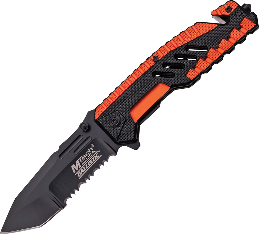 MTech A856OR Rescue Assisted Open Orange Folding Knife Pocket Folder