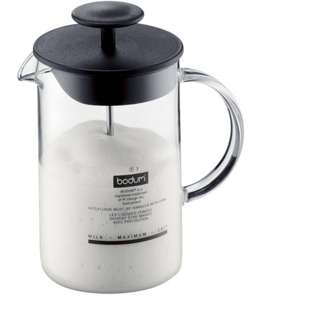 Bodum LATTEO Milk Frother, 0.25 L, 8 Ounce, Dishwasher Safe, Black