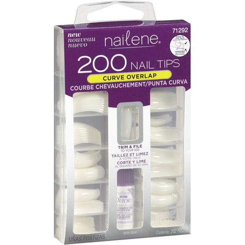 Nailene Curve Overlap Nail Tips Kit, 200 count