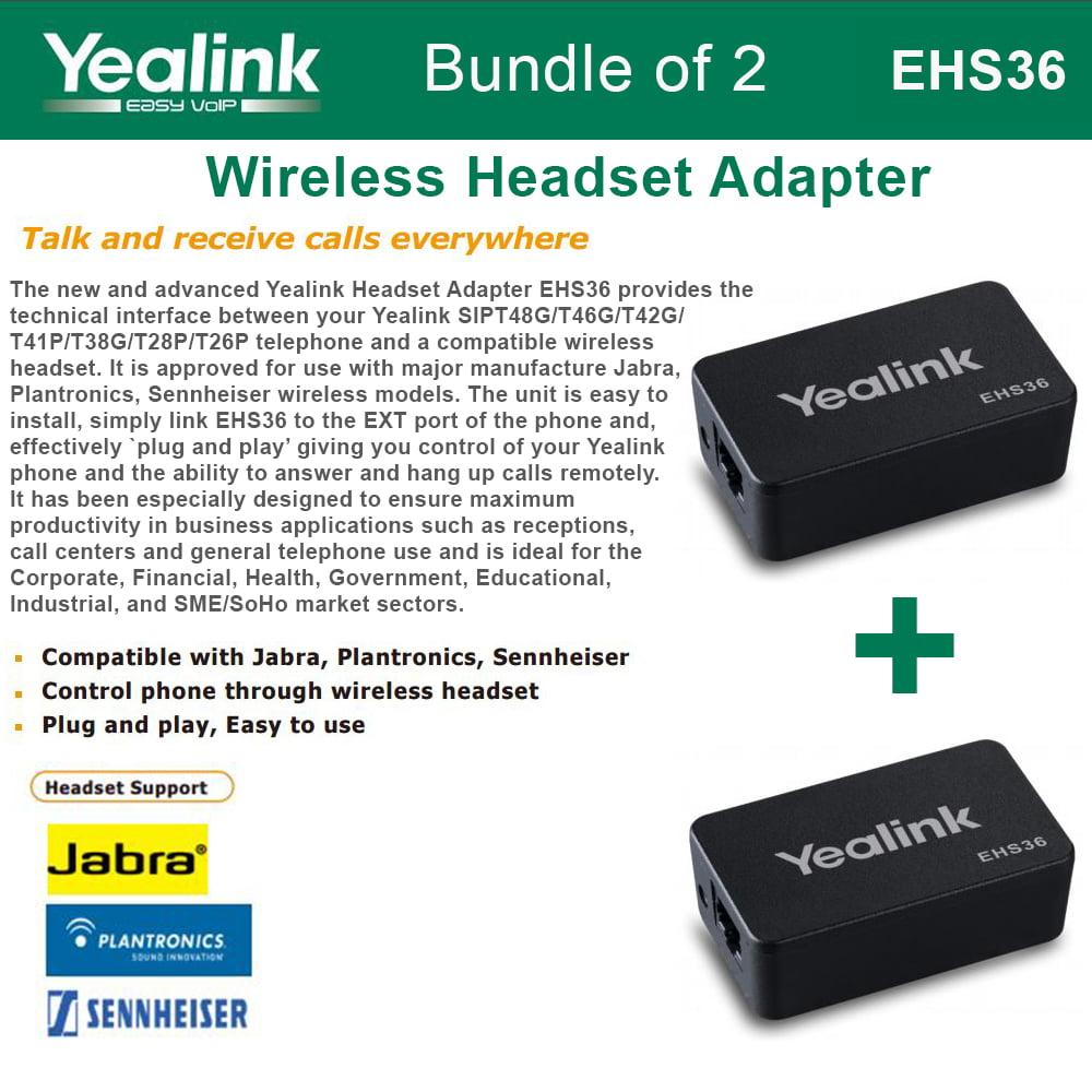 Yealink EHS36 IP Phone Wireless Headset Adapter NEW