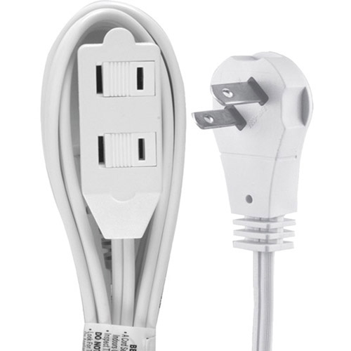 GE 2-Outlet Wall Hugger Extension Cord, 6', White