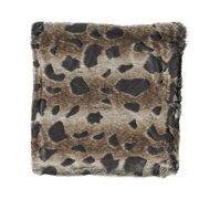 """Noble House Lev Decorative Throw Pillow Cover, 20"""" x 20"""", Brown and Black"""