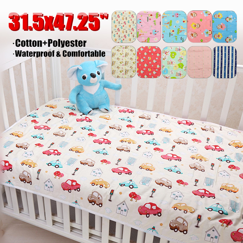 Infant Baby Double-Layer Urine Mat Cotton Diaper Nappy Kid Bedding Changing Pad