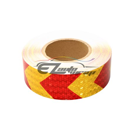 120ft Night Reflective Safety Tape Warning Caution Adhesive Conspicuity Arrow Checker Marking Decal Sticker Roll Film Truck RV Trailer Boat ATV Construction Indoor Outdoor (Halloween Fan Film Trailer)