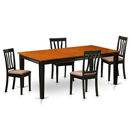 Quan5 bch c 5 pc dining set dining table with 4 solid wood for B q dining room furniture