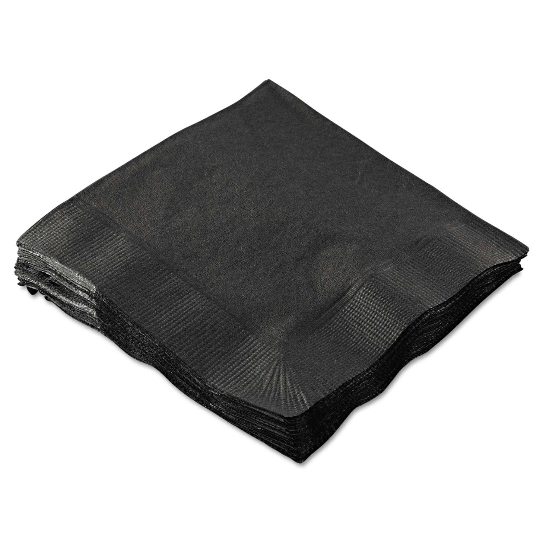 Hoffmaster 2-Ply Cocktail Napkins, Black, 1000 count